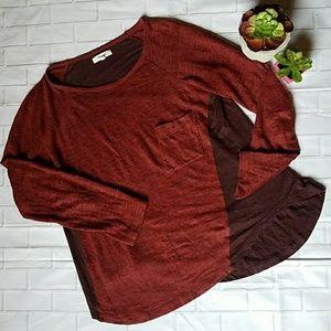 ❤Madewell Curveball Tee Red Color Black ❤